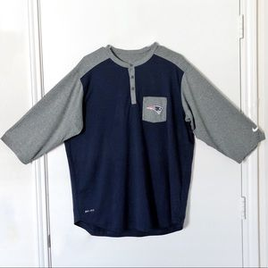 Nike Dri-Fit New England Patriots Half Sleeve Tee